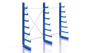 Kragarmregal K200 Einfachregal, Komplettregal, einseitig nutzbar, H2000xB2510xT250-500 mm, RAL 5010 / enzianblau